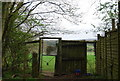 TQ1433 : Animal proof gate, West Sussex Literary Trail by N Chadwick