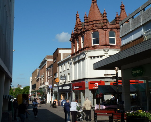 High Street shops, Chesterfield