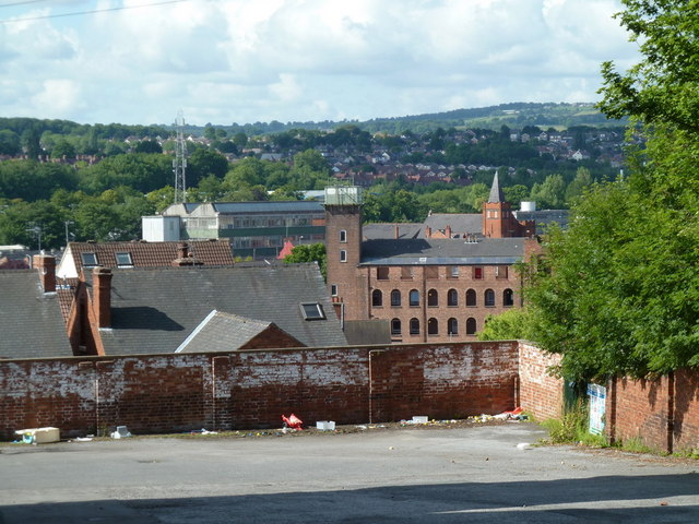 View south from Saltergate Lane, Chesterfield