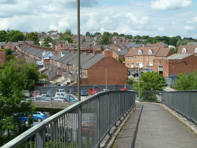Footbridge view to Wharf Lane