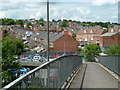 SK3871 : Footbridge view to Wharf Lane by Andrew Hill