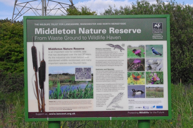 Middleton Nature Reserve information board