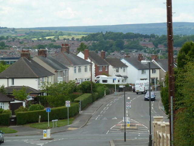 Looking across Brimington Road