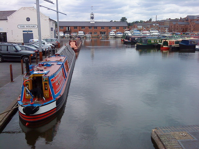 Working Narrow Boat Hadar moored in Stourport upper basin