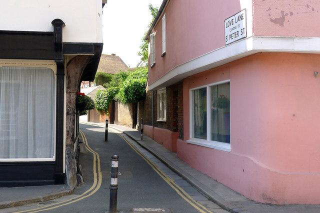 Love Lane, off Strand Street, Sandwich