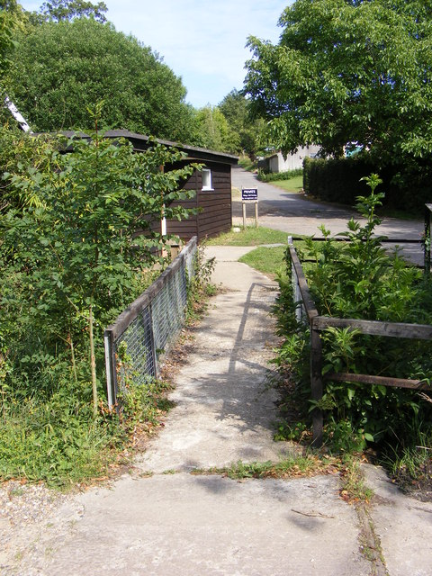 Footbridge to Kettleburgh Village Hall