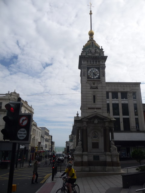 Brighton: the clock tower and West Street