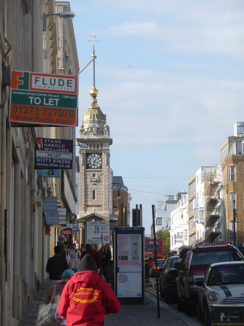 Brighton: the clock tower from West Street