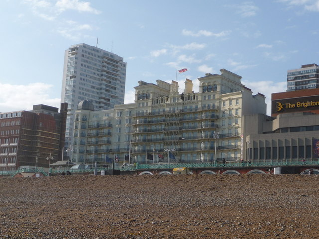 Brighton: the Grand Hotel from the beach