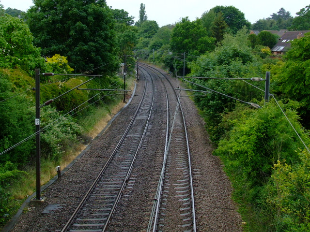 Railway line at Stansted Mountfitchet