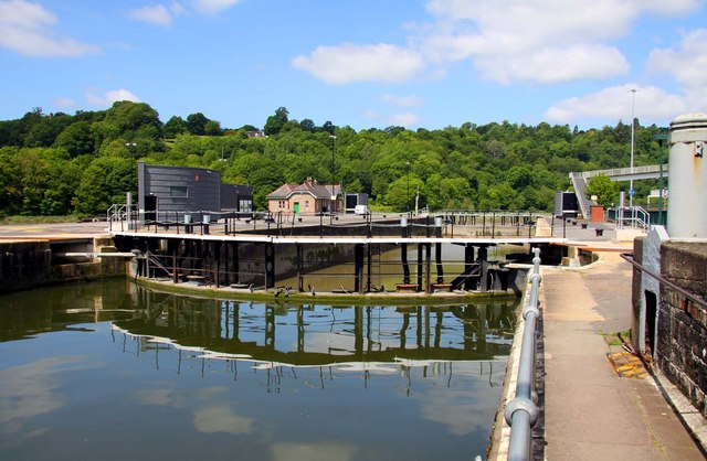 The new lock gates from Cumberland Basin