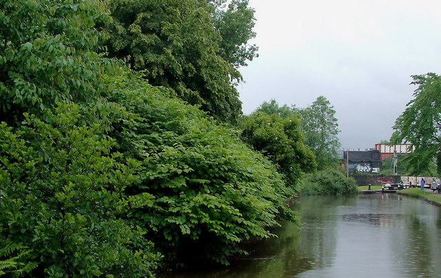 Trent and Mersey Canal by Hanley Cemetery, Stoke-on-Trent