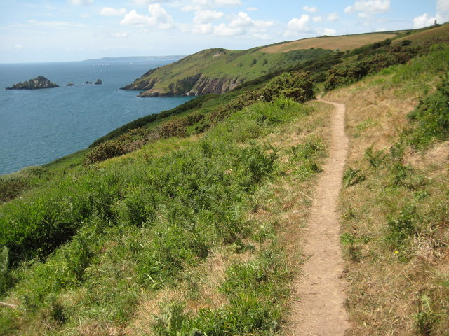 South West Coast Path above Pudcombe Cove