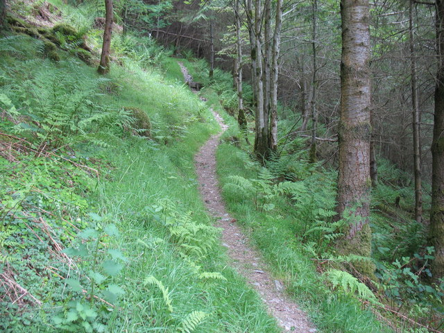The Maesglase footpath