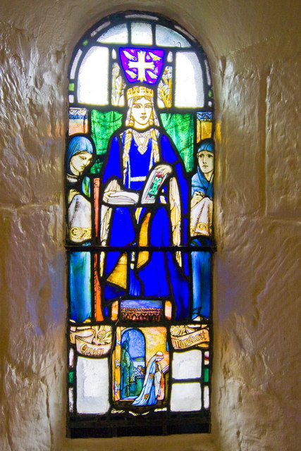 Stained glass window, St. Margaret's Chapel, Edinburgh Castle