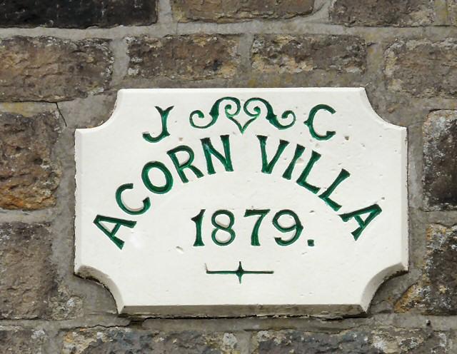 Acorn Villa date stone