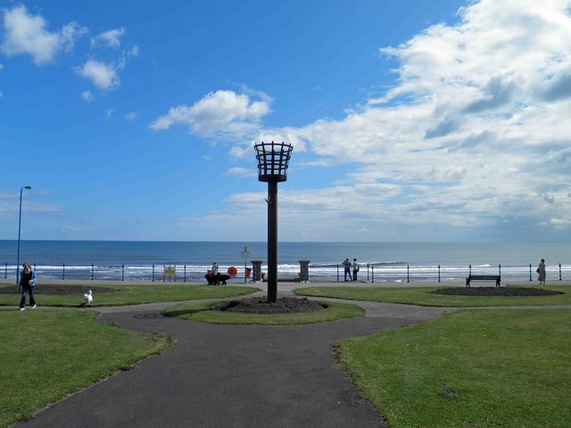 Beacon on the sea front Seaton Carew