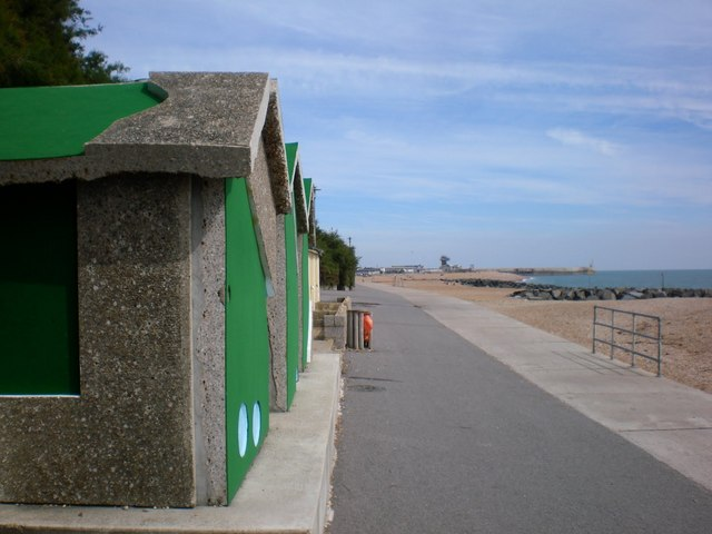 A Crazy Golf course turned into Beach Hut Art in Folkestone