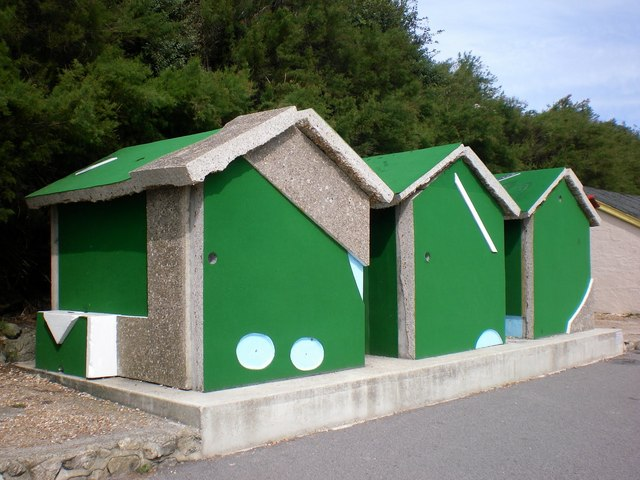 Another view of the Crazy Golf Beach Huts in Folkestone