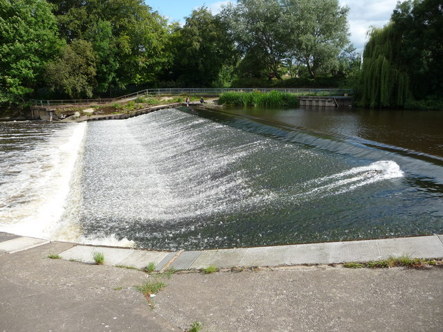 Weir on the River Severn in Shrewsbury