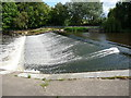 SJ5013 : Weir on the River Severn in Shrewsbury by Jeremy Bolwell