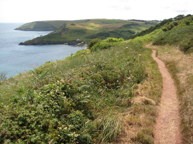Coast path above Southdown Cliff