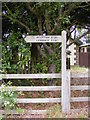 TG0623 : Marriott's Way footpath signpost by Adrian Cable