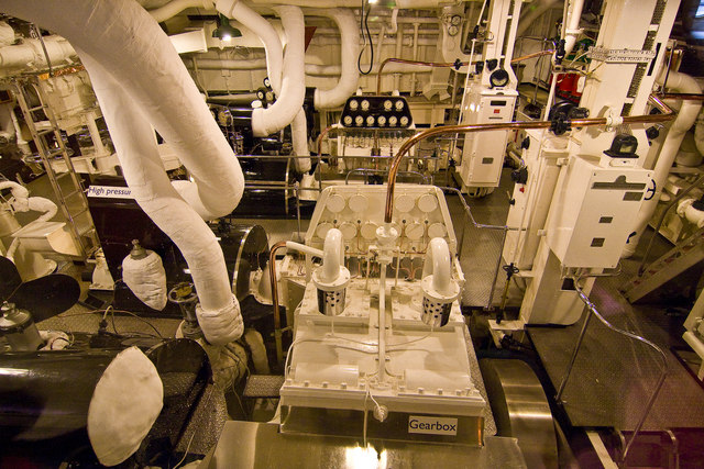 Royal Yacht Britannia, engine room