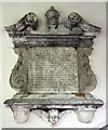 TL2437 : St Vincent, Newnham - Wall monument by John Salmon