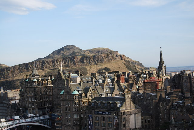 View From The Scott Monument Towards 169 N Chadwick