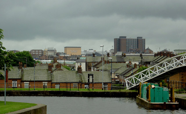 City skyline, Hanley, Stoke-on-Trent