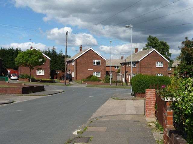 The junction of Derwent  and Watling Roads, Airedale, Castleford