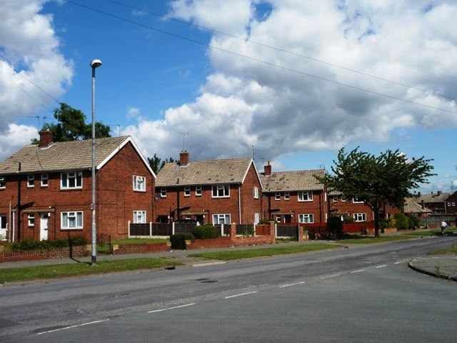 Small blocks of flats along Watling Road