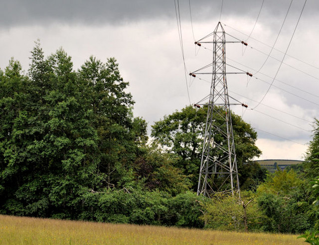 Pylon and power lines, Dixon Park, Belfast (4)