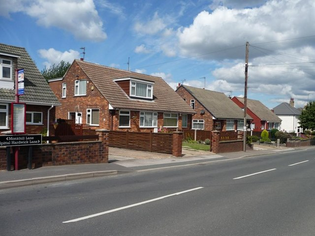 Bungalows at the southern end of Spittal Hardwick Lane