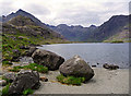 NG4919 : Boulders at the southern end of Loch Coruisk : Week 25