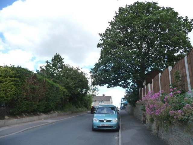 The top end of Mill Lane, Nevison