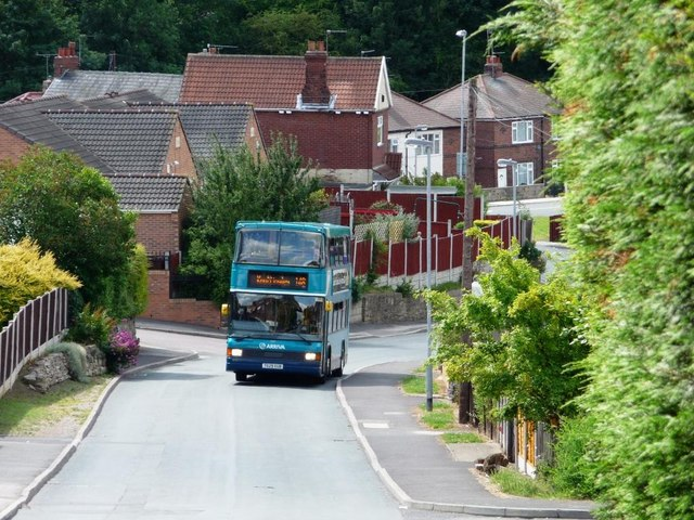 Double decker bus on Mill Lane, Nevison