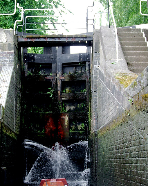 Staircase lock chamber at Etruria, Stoke-on-Trent