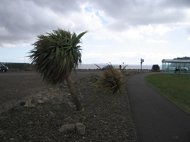 Footpath leading onto the Cardiff bay barrier