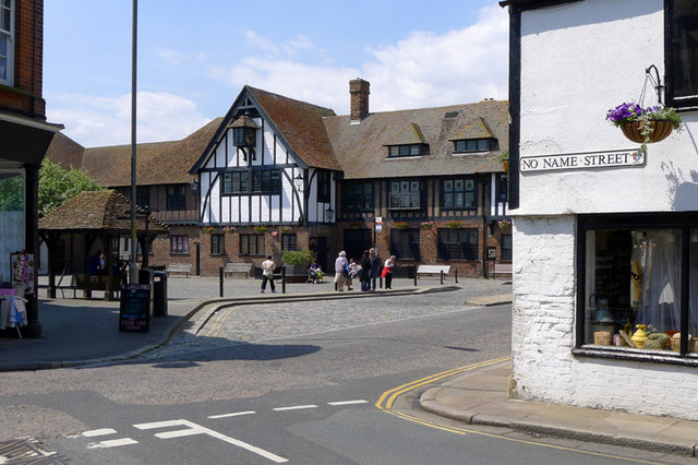 The Guildhall from No Name Street, Sandwich