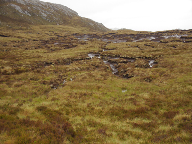 Peat hags on the slopes of Sgorr na Diollaid