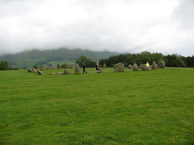 Castlerigg stone circle on a wet summer solstice