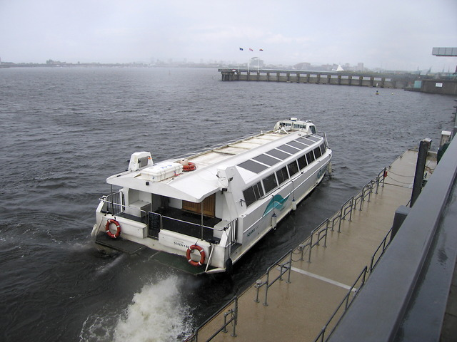 Water bus at Penarth stop