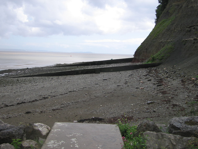 Groynes below Penarth Head