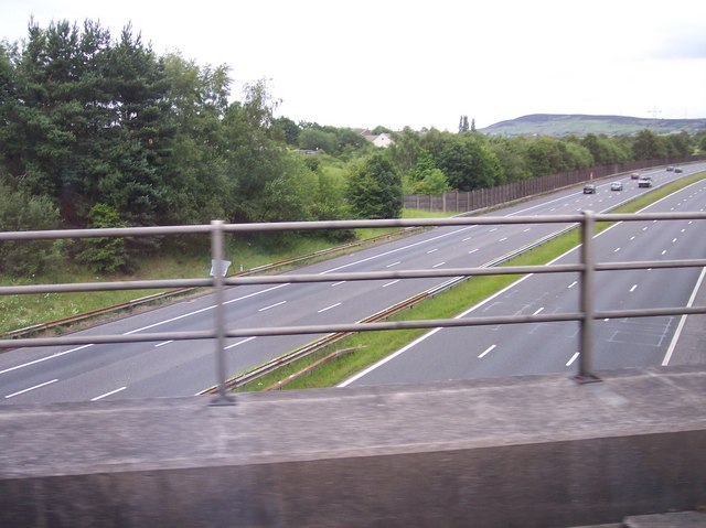 M67 viewed from train near Godley