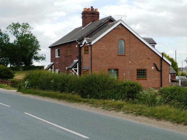 Pair of cottages on Womersly Road.