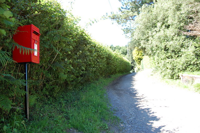 Post Box on drive to Fontridge Manor