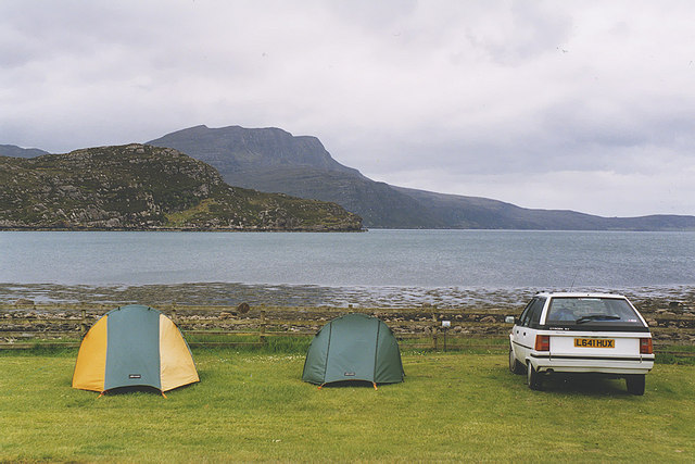 Camping at Ardmair Point