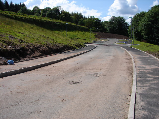 New road and roundabout
